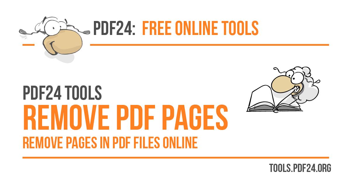 Удалить страницы из PDF - 100% бесплатно - PDF24 Tools